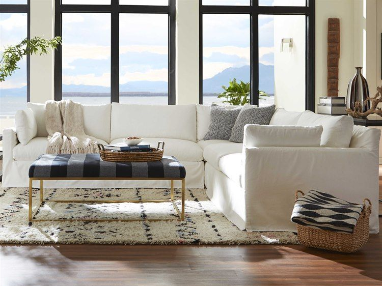 Rowe Furniture Sylvie Sectional Sofa with Slipcover ...