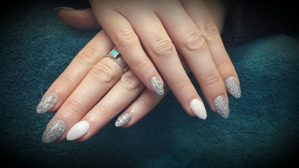 Beautiful glitter pointed nails :) | Nails | Pinterest | Pointed nails