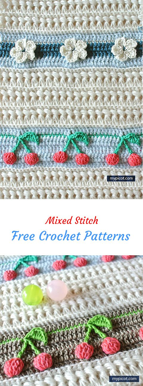 Mixed Stitch Free Crochet Pattern #crochet #crafts #homedecor ...