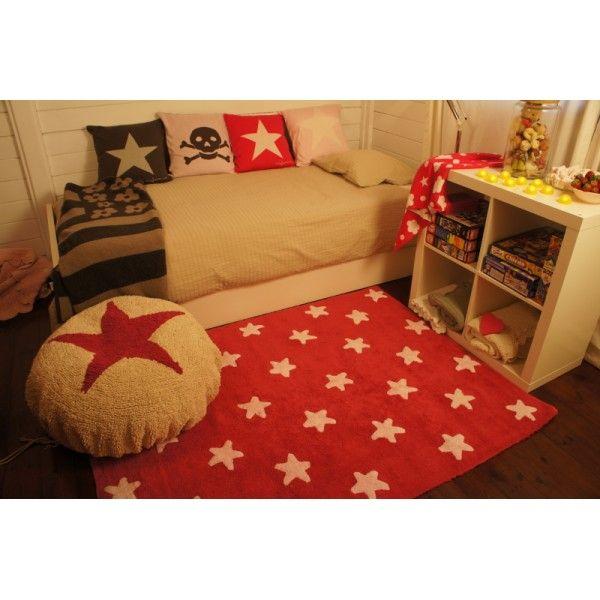 alfombra fucsia stars white/ fucsia carpet Alfombras