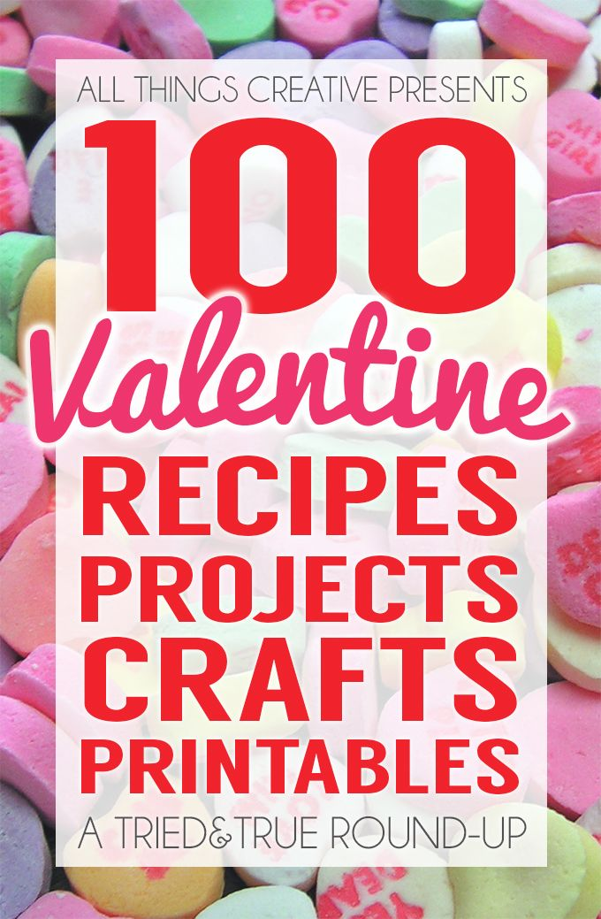 100 Valentine Crafts and Recipes | Valentine crafts, Creative and ...
