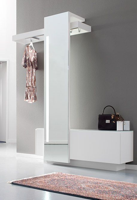 Sudbrock Nexus. Wardrobe Furniture With Tall Mirror / Garderobe Mit  Beleuchtetem Ganzkörperspiegel. Möbeldesign: