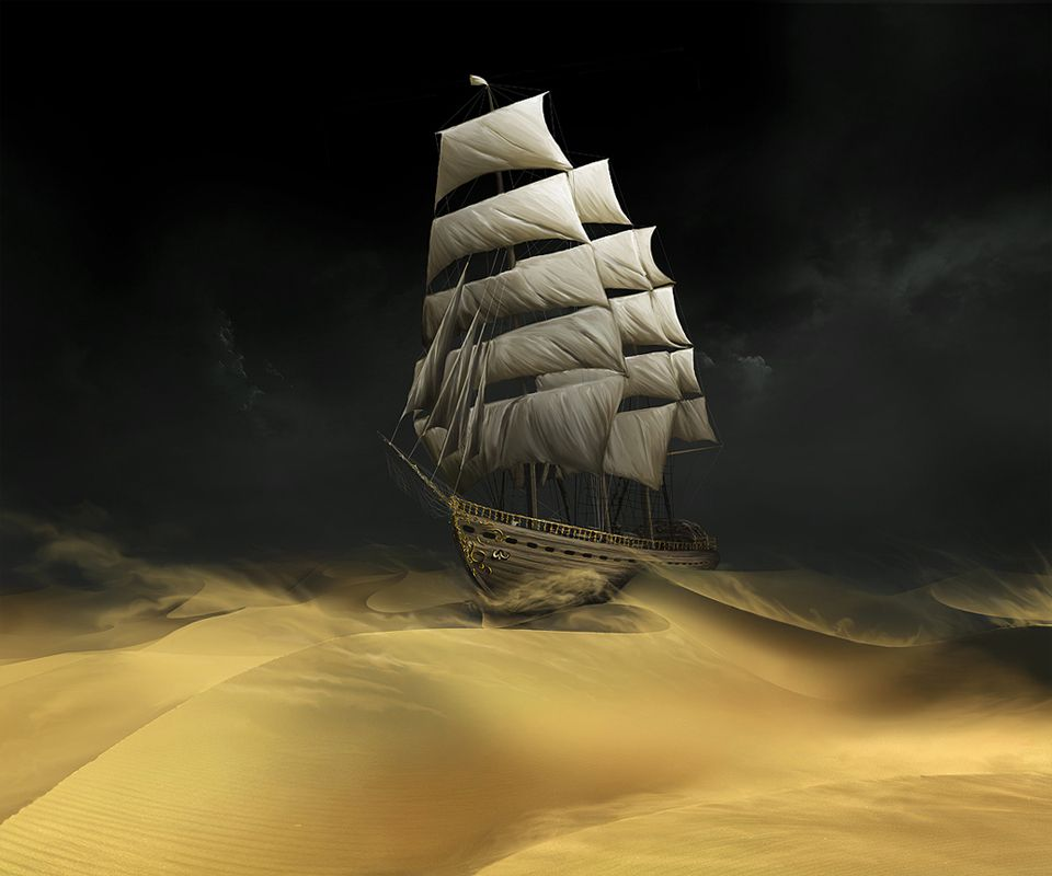 Sailing On Desert Android Wallpapers 960x800 Hd Wallpaper Download