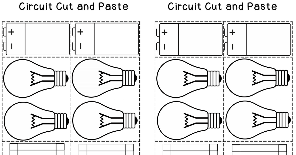 circuit foldable open closed series and parallel circuits more
