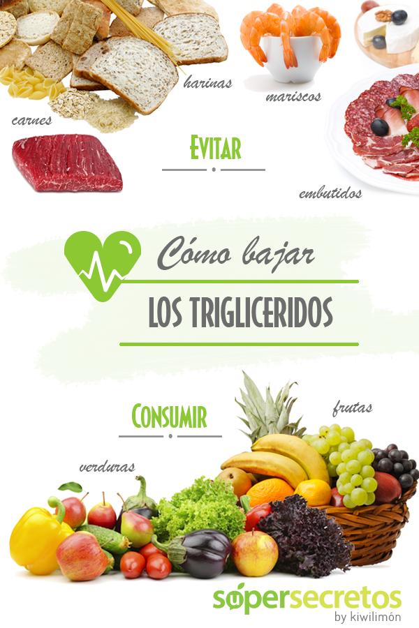 Alimentos que reducen el nivel de trigliceridos
