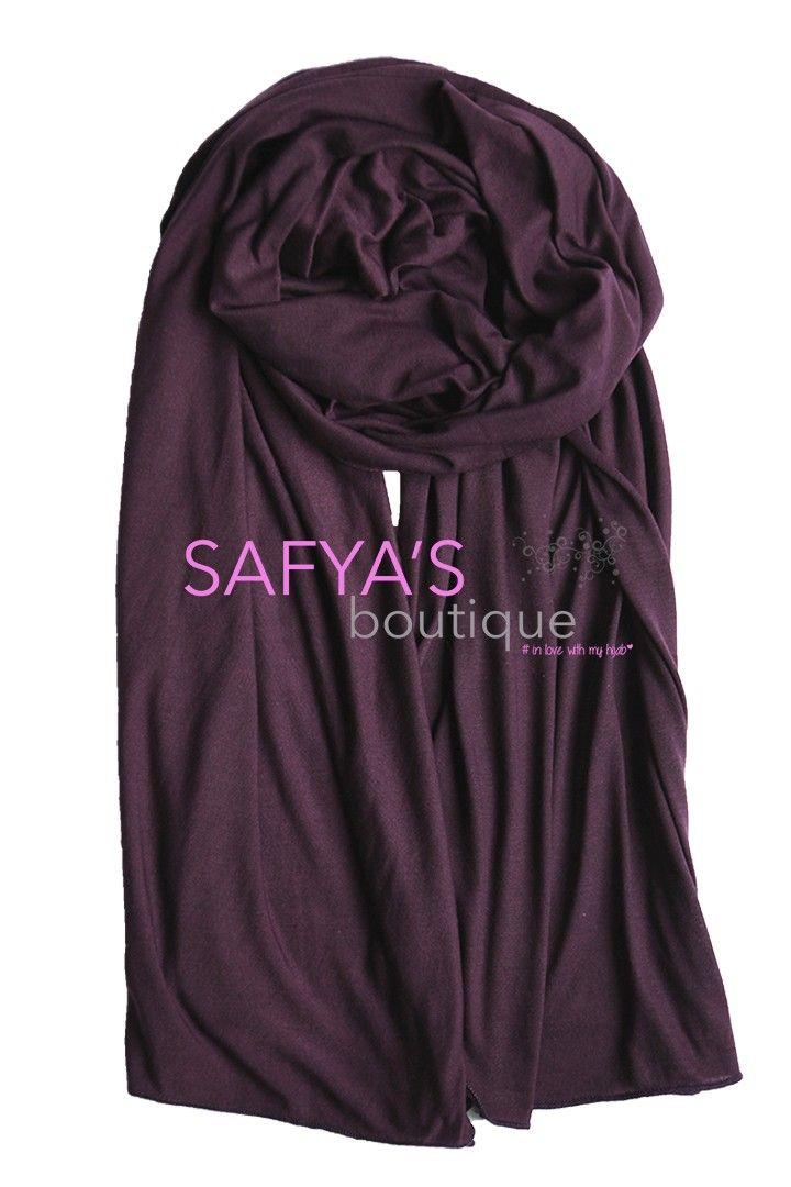 Châle en coton de jersey doux - Prune foncé via safya's boutique. Click on the image to see more!