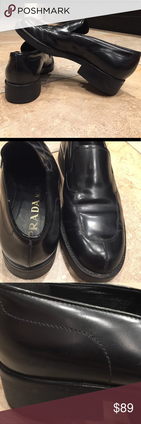 a96cef80579 PRADA Loafer Women s shoe size 6 Used but perfect condition