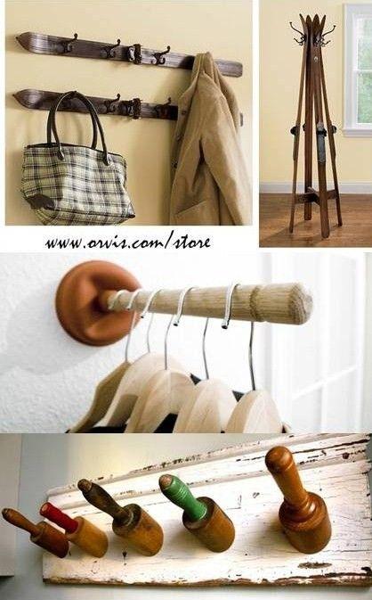 13 Perchero para ropa reciclado