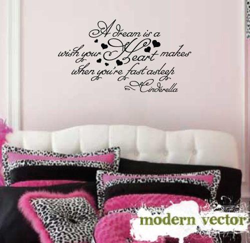 cinderella quotes | Cinderella Quote Girls Nursery Vinyl Wall Quote Decal | eBay