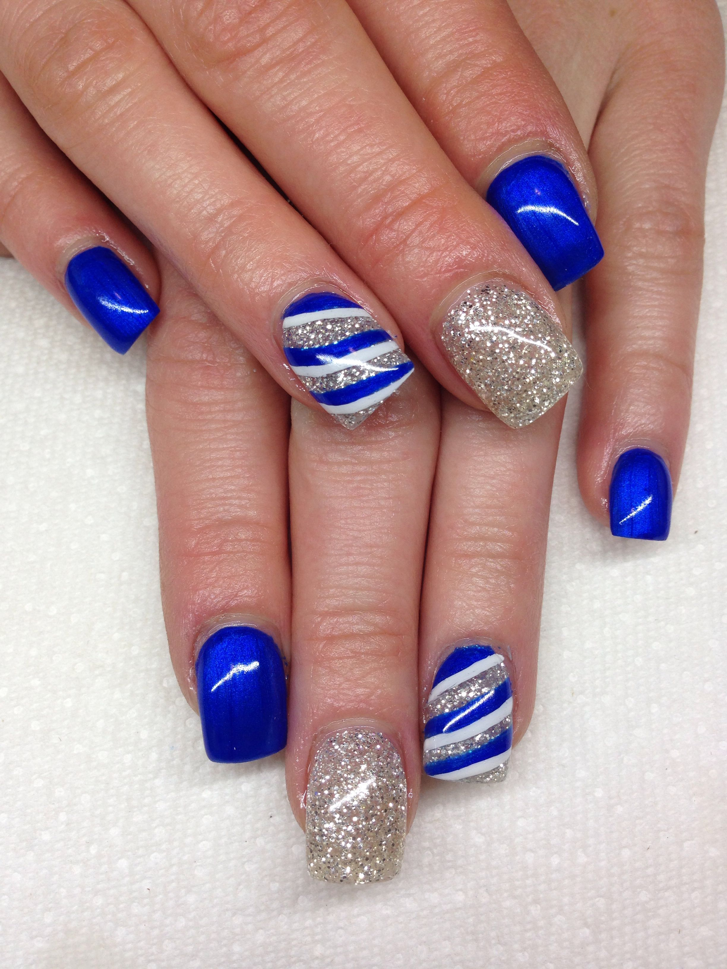 Gel Nails With Hand Drawn Design Using Gel By Melissa Fox Nails