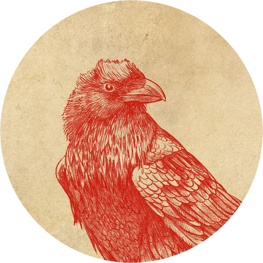 Red Raven Circle Wall Decal (With images) Red raven