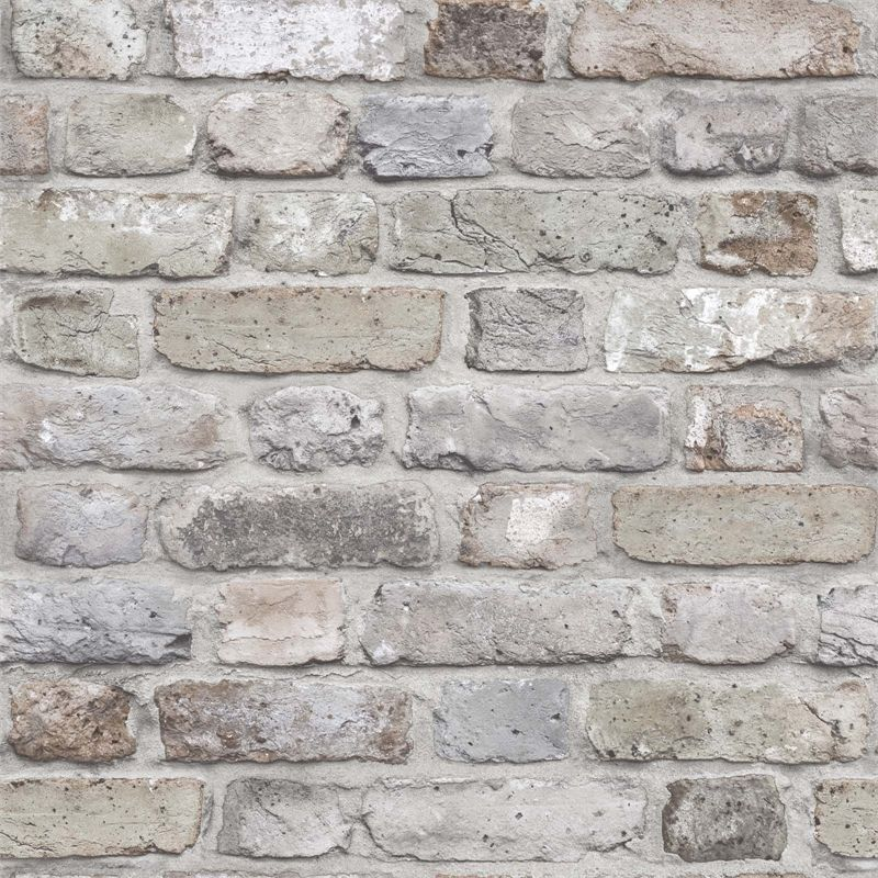 Find Grandeco Facade Brick Pastel Paste The Wall Wallpaper At Homebase Visit Your Local Store For The Wi Brick Effect Wallpaper Brick Wallpaper Wall Wallpaper