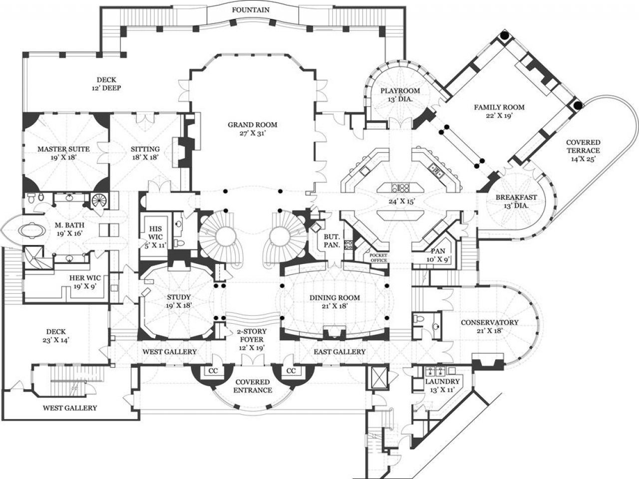 Palace plans castle floor plan blueprints hogwarts for Palatial home designs