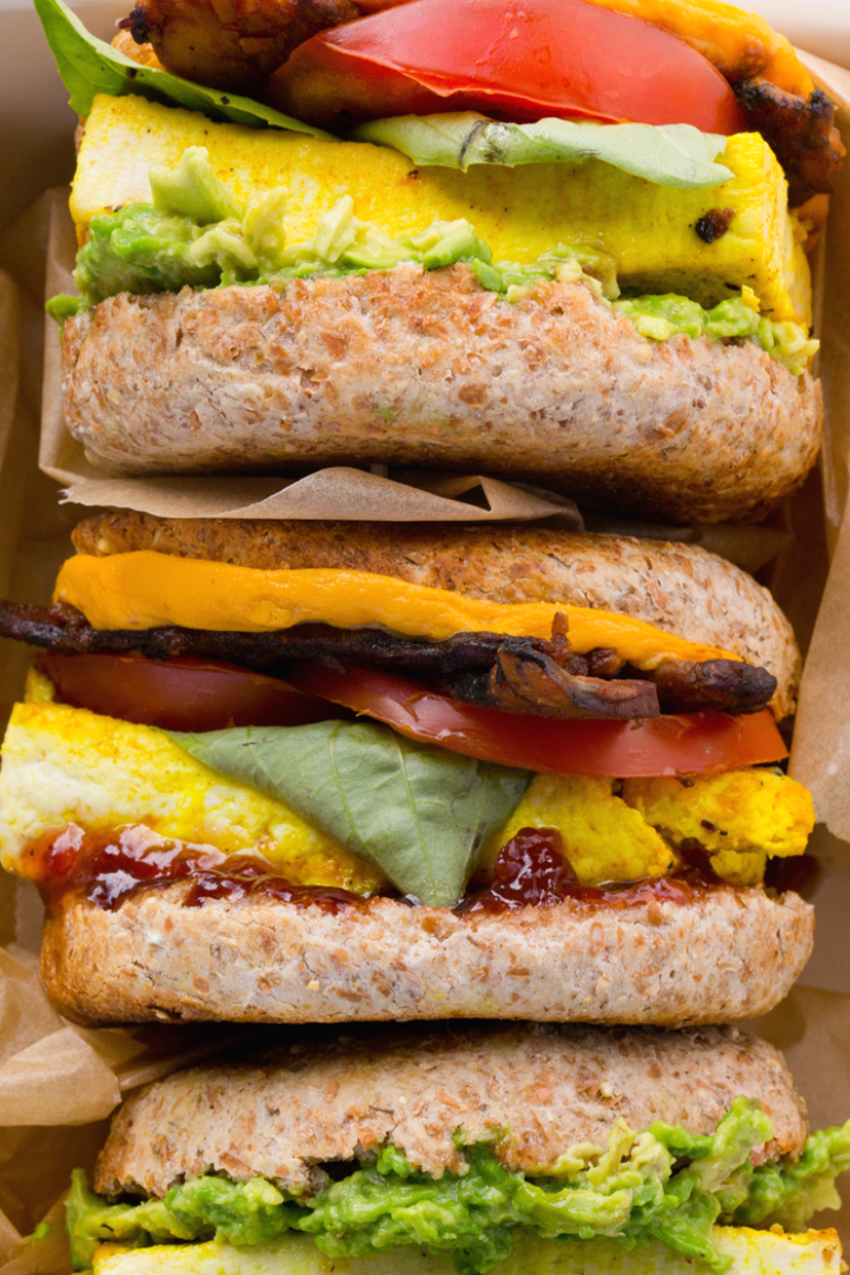 Vegan Breakfast Sandwiches With Eggy Tofu Cheese And Avocado Smash English Muffin Tofu Sandwiches In 2020 Easy Appetizer Recipes Breakfast Sandwich Vegan Sandwich