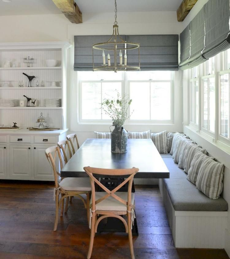 15 Lovely Kitchen Curtain Ideas Dining Room Bench Farmhouse Dining Dining Room Design