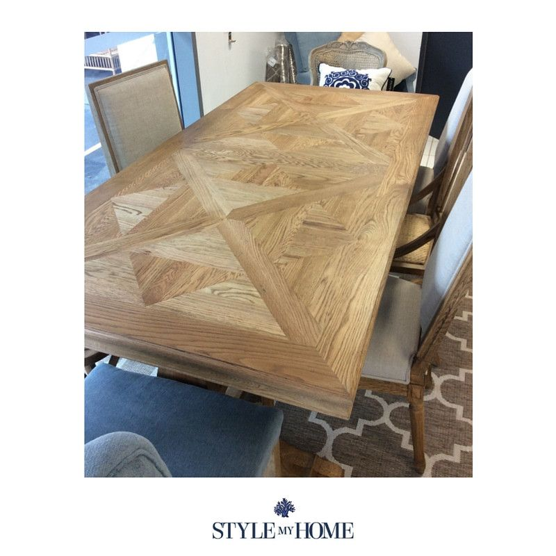 Hamptons Parquetry Oak Dining Table In 2019 Tables