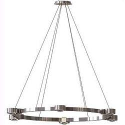 Photo of Top Light Puk Crown pendant lamp matt chrome M 4x linen matt / 4x glass matt standard version Top Ligh