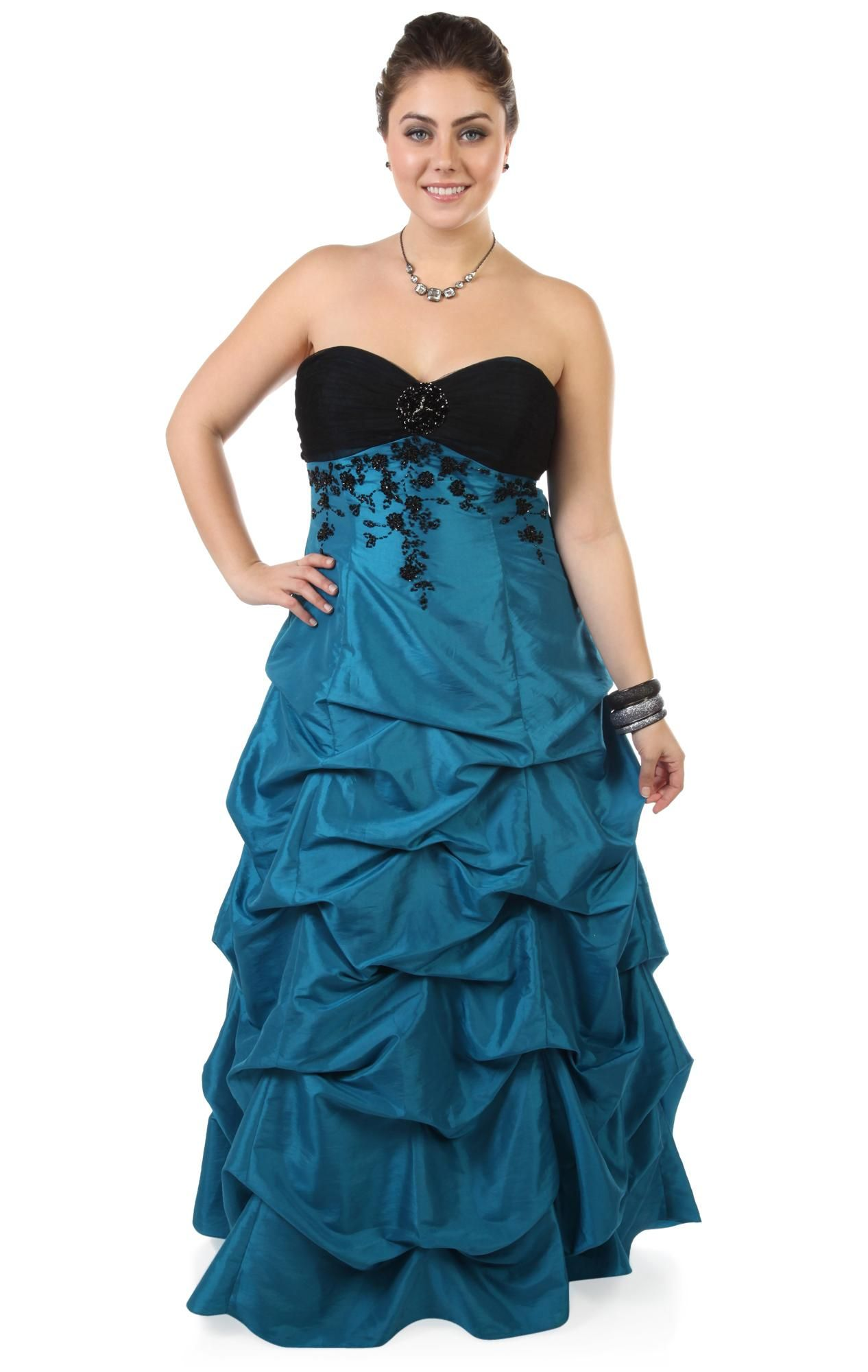 Deb shops plus size beaded long prom dress with ball gown skirt
