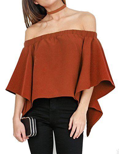 73a4920dfaea5 Relipop Women s Off Shoulder Tops Fashion Shirt Casual St ...