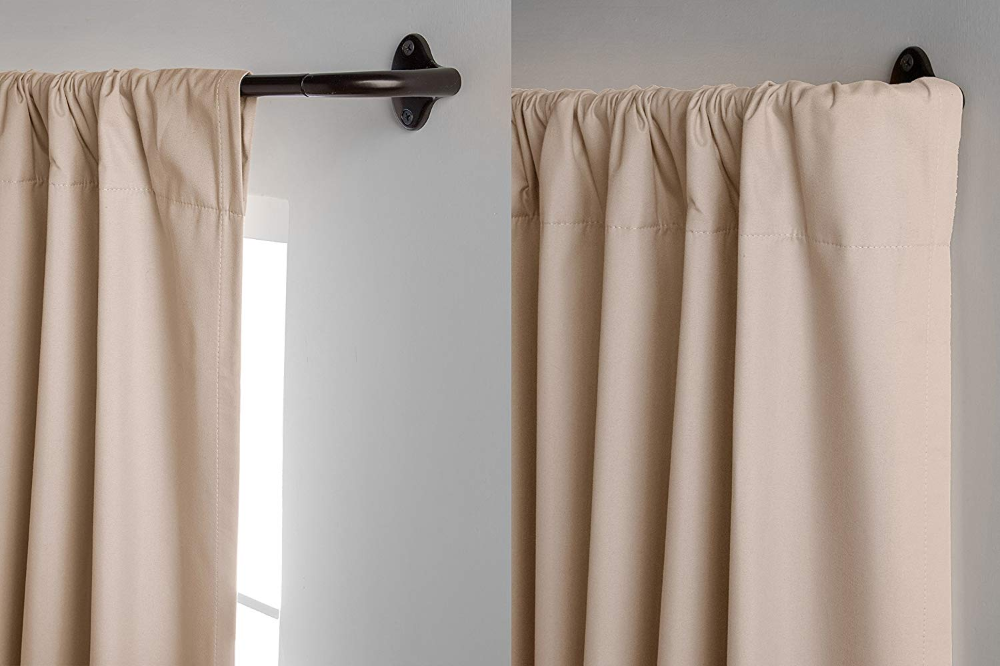 Amazonbasics Room Darkening Curtain Rod 224 To 305 Cm Bronze