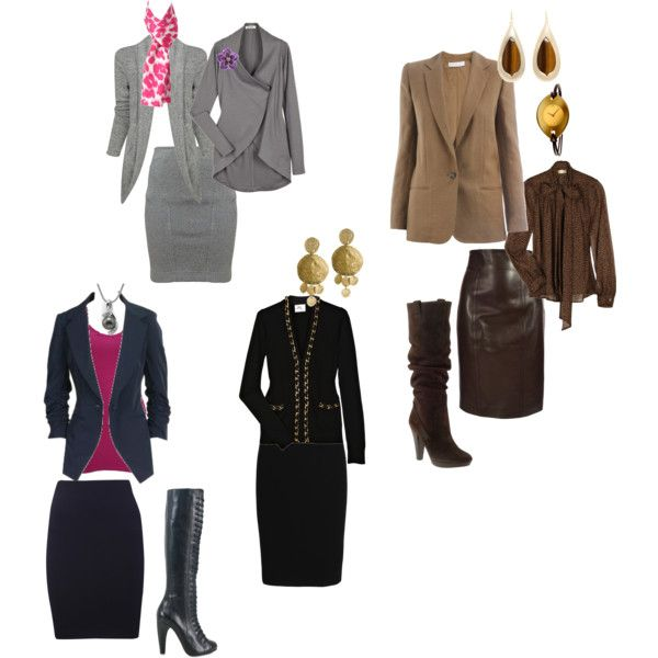 """""""pencil Skirts For Round And Oval Body Shape"""" By Stylizit"""