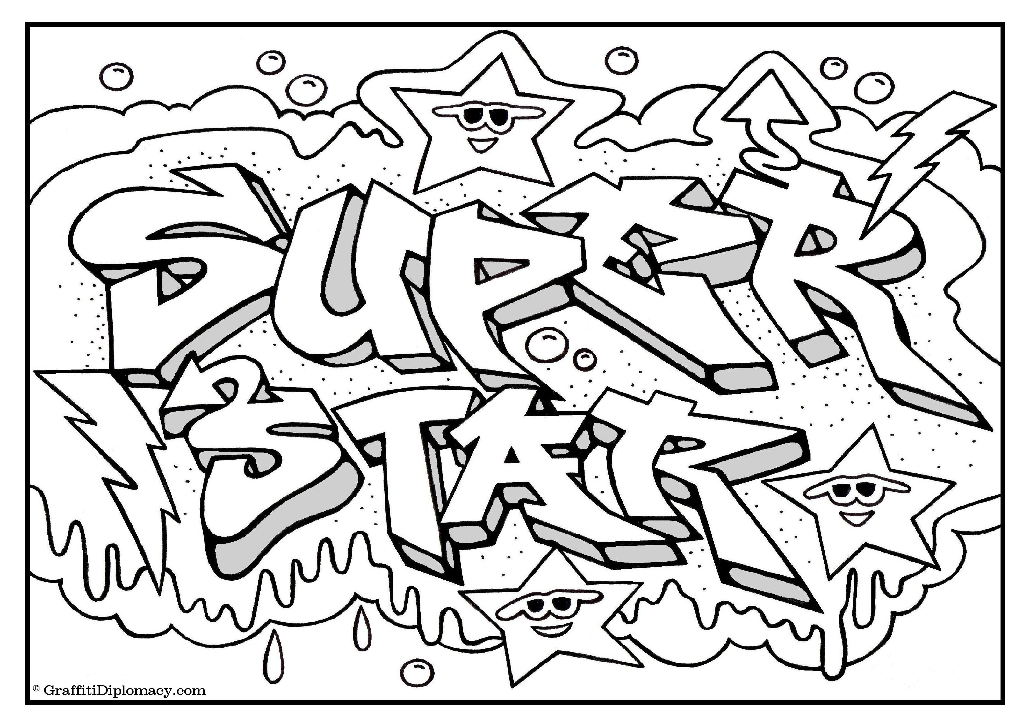 "Graffiti Coloring Book ""Because Y's A Crooked Letter"" by ..."