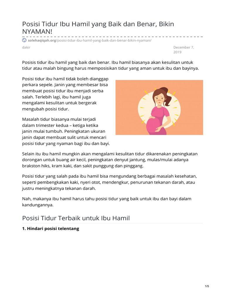 37++ Posisi tidur yang baik bagi ibu hamil trends