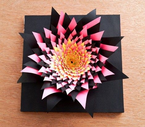 32+ Construction Paper Craft #constructionpaperflowers Construction Paper Craft 3d Papercraft Flower Art An Intricate Paper Sculpture 9 Steps #constructionpaperflowers