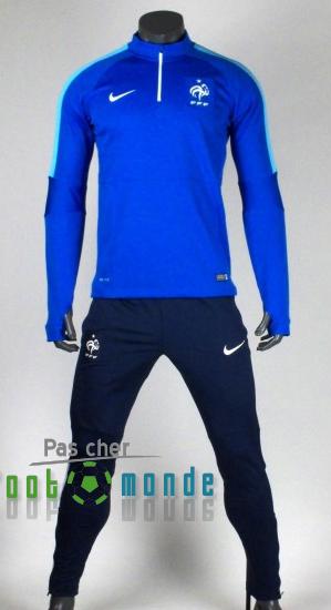54eac4218964e Nouveau Survetement de foot France Bleu 2015 2016   Jerseys   Soccer ...