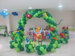 Resultado de imagen de decoracion con papel crepe globos for Decoracion cumpleanos nina 2 anos