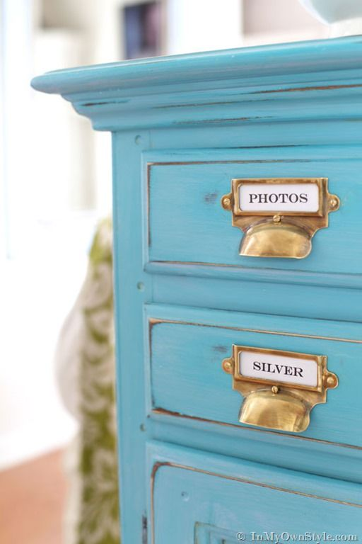 Chalk painted, glazed, and waxed furniture makeover tutorial.  {InMyOwnStyle.com} #Turquoise #furnituremakeover #chalkpaint - Chalk Painted, Glazed, And Waxed Furniture Makeover Tutorial