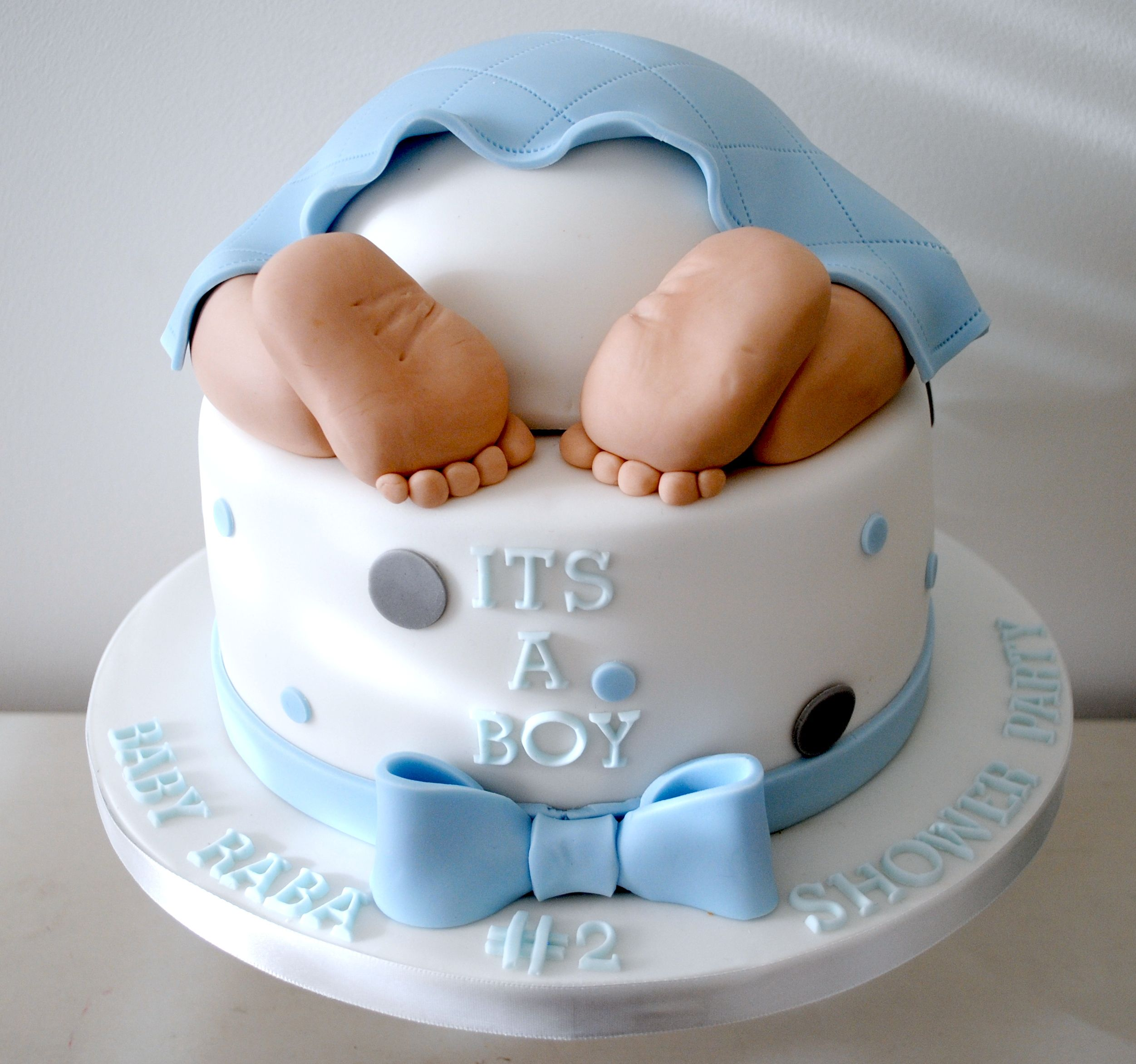 Baby Feet Cake Decor