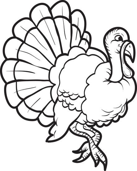FREE Printable Turkey Coloring Page for Kids | Turkey colors, Free ...