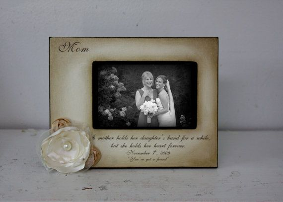 mother daughter 5x7 landscape wedding frame bride keepsake personalize picture frame 4x6 a mother holds her daughters hand heart forever - Mother Daughter Picture Frame
