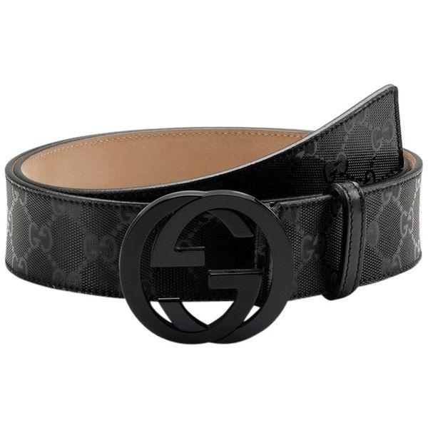 38844331055b Pre-owned Gucci Belt Guccissima Leather Interlocking Gg Logo Buckle...  ( 188) ❤ liked on Polyvore featuring accessories