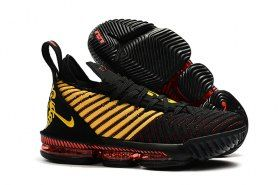 d8d98b6434a Nike LeBron 16 King Black Gold Red James Trainers Men s Basketball Shoes