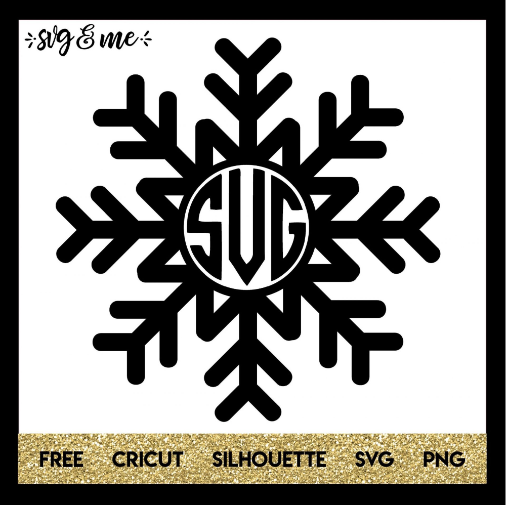 Monogram Snowflake for Winter (With images) Christmas