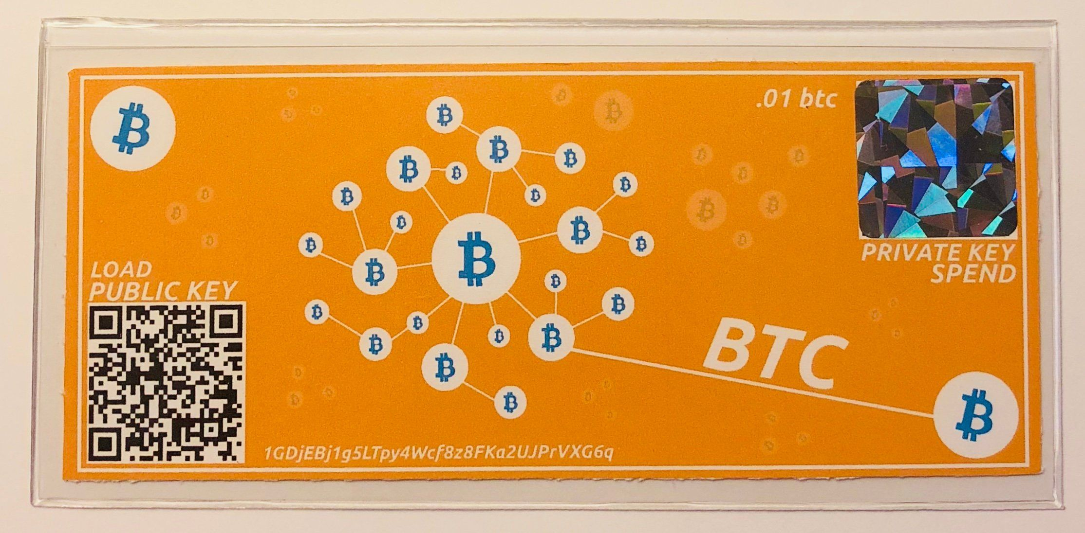 Bitcoin paper wallet cryptocurrency gift card cold