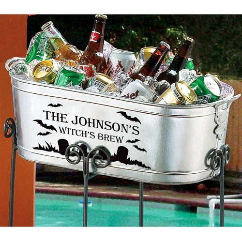 Walmart Wedding Gift Ideas: Personalized Halloween Beverage Tub From Walmart..