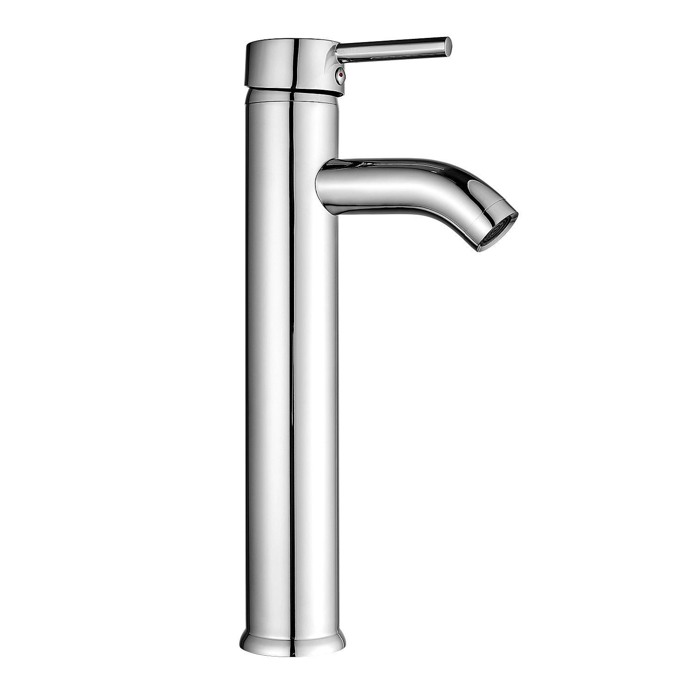Chrome Bathroom Basin Vessel Sink Faucet Single Handle One Hole Lavatory Mixer