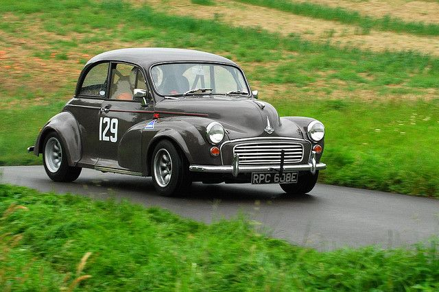 Morris Minor- I had a '61, was going to put in an aluminum block Buick V6 until the barn collapsed on it. With a little tweaking would have had the same power/weight ratio as a '69 427 Vette. Maybe Mom called up that snowstorm. She always worried about me that way.