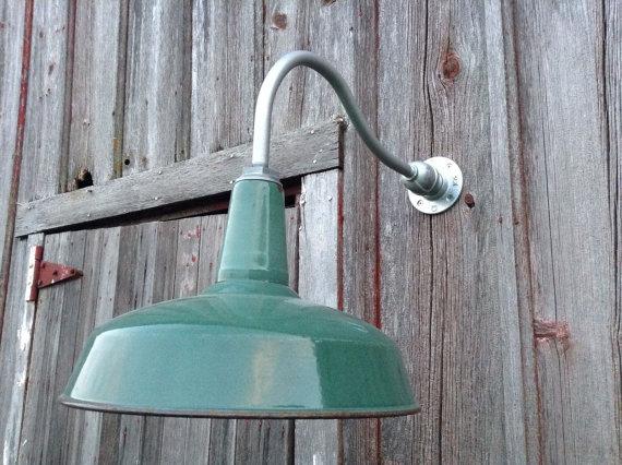 Relektrik Vintage 16 Green Dome Shade Porcelain Gooseneck