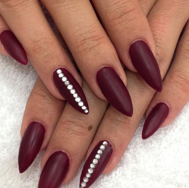 Nail Design Ideas Black And Silver Nails Ideas Black Nail Designs Red Gel Nails Red Nail Art Designs