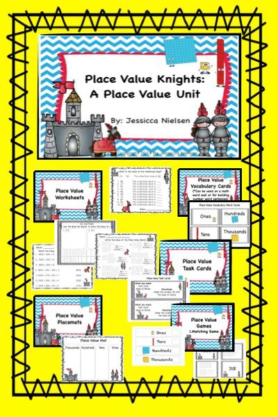 Place Value Knights A Place Value Unit Formative assessment - place value unit
