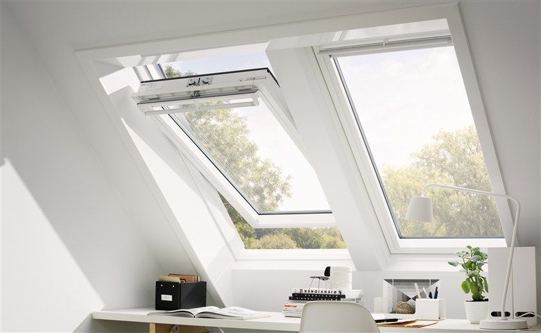 home office mit dachfenster ideen bilder, schreibtisch unterm dachfenster | dachgeschoss | pinterest | attic, Design ideen