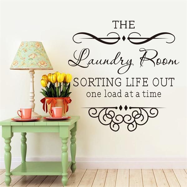 Wall Decals Quotes For Laundry Room Endearing Laundry Room Wallpaper Promotionshop For Promotional Laundry Room Review