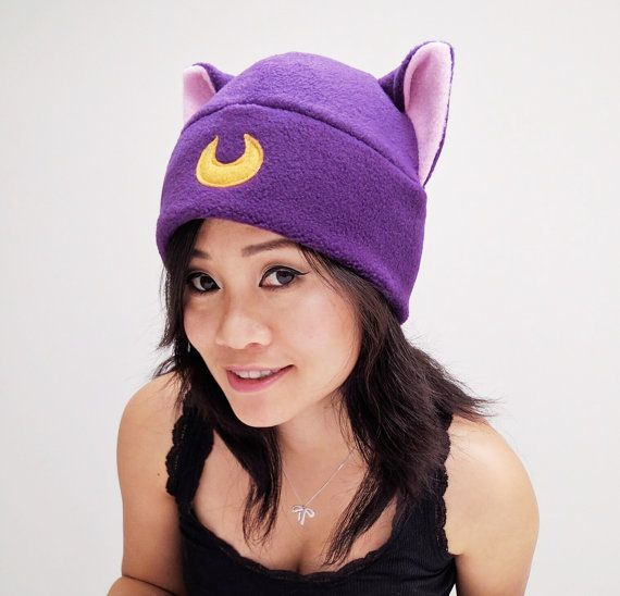 SailorMoon Diana Hat Beanie Hat Cat Fleece Hat Cat Ear