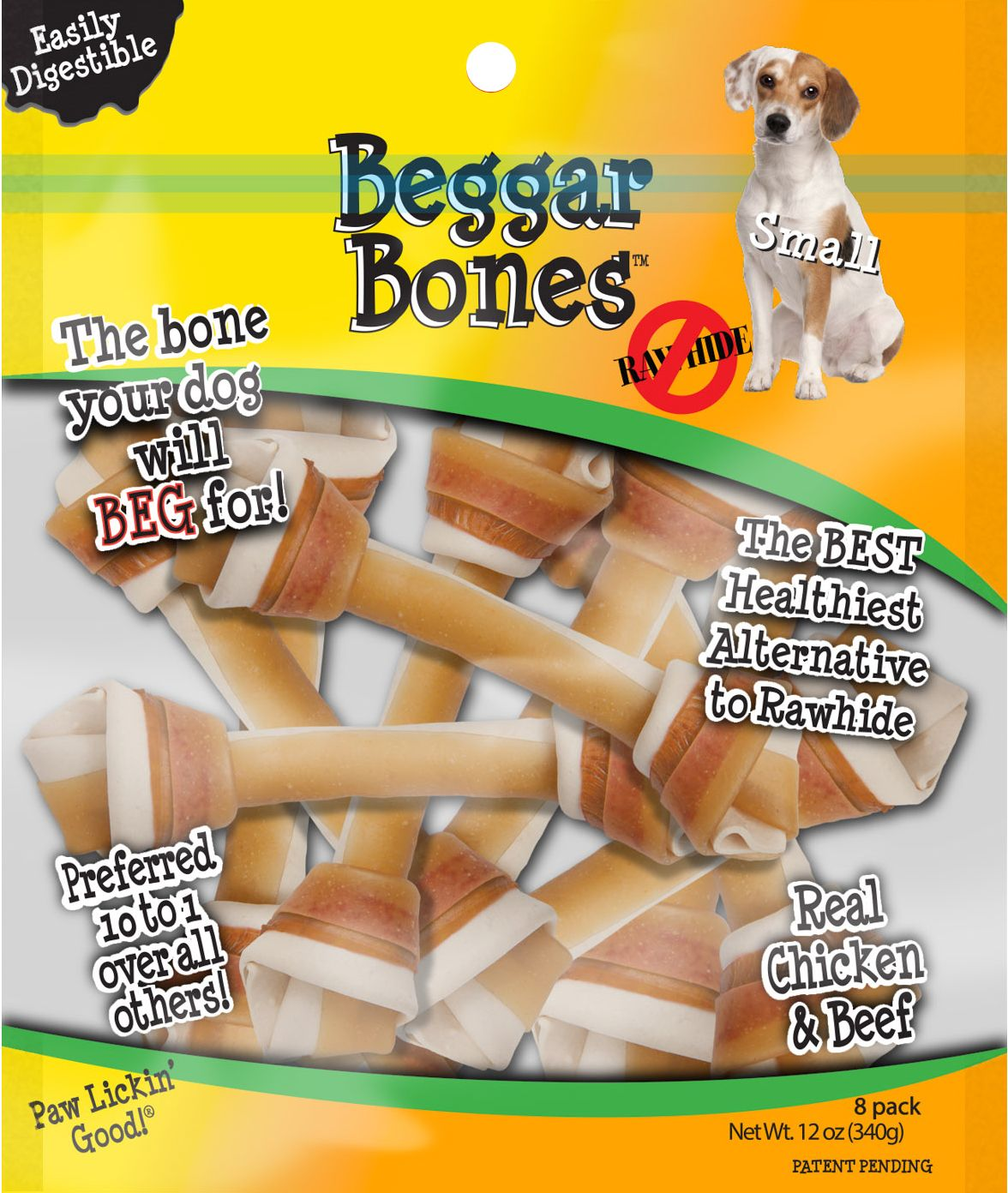 Beggar Bone Value Bag Small 8 Pk Dog Treats Dog Bones Pet