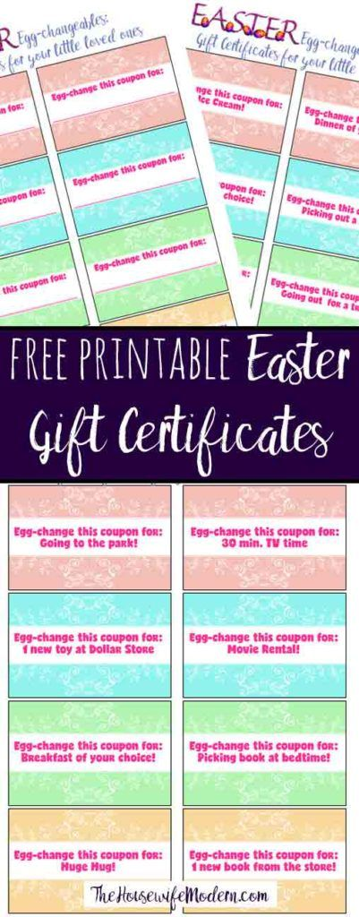 Free printable easter gift certificates for kids pre filled free printable easter gift certificates for kids pre filled certificates and blank ones you negle Images