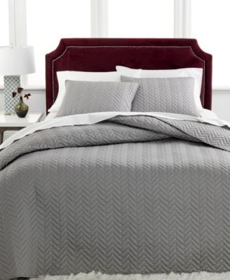 Superior Charter Club Damask Collection Herringbone Pima Cotton 3 Pc Queen Quilted Bedspread  Set, Only Idea